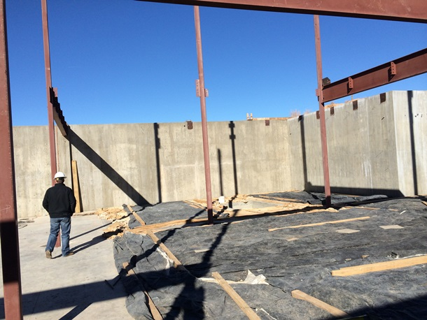 Cement Basement Walls with steel beams