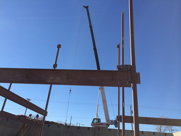 Crane for Installation of Steel beams